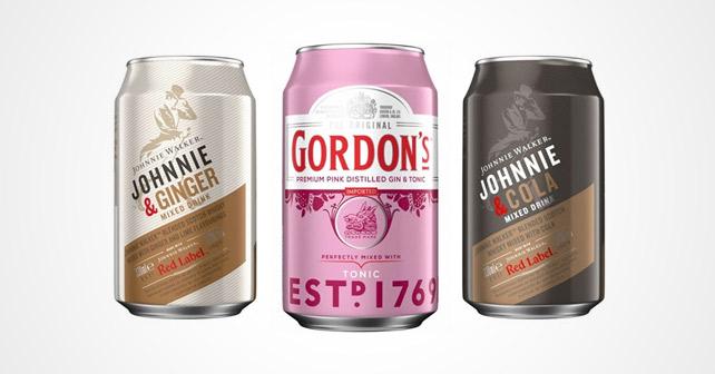 Diageo Johnnie Walker Gordon's Premixes