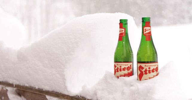 Stiegl Bier Schnee