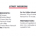 Jitney Negroni by Leo Robitschek