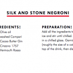Silk and Stone Negroni by Rich Woods