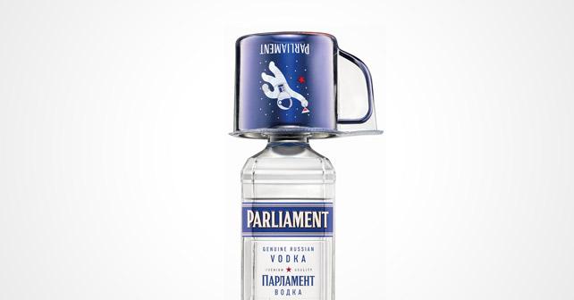 Parliament Vodka Onpack Mule-Becher Kosmonaut