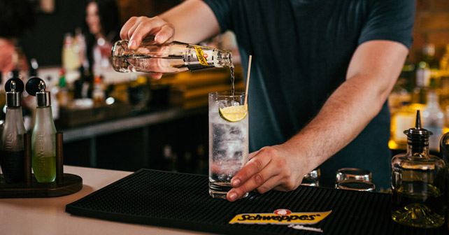 Schweppes Dry Tonic Drink Bartender