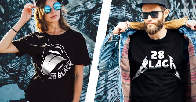 28 BLACK Band-Shirts