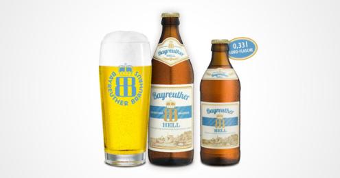 BAYREUTHER HELL 0,33 Euroflasche