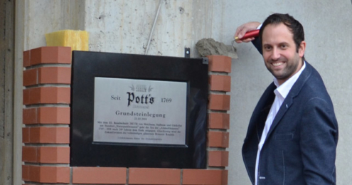 Pott's Grundsteinlegung Jörg Pott