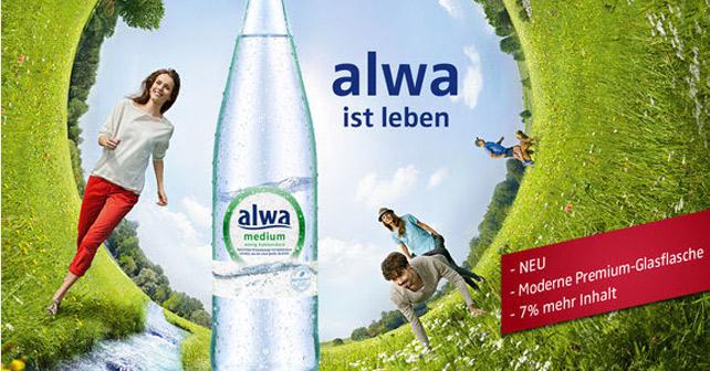 Alwa Glasflasche
