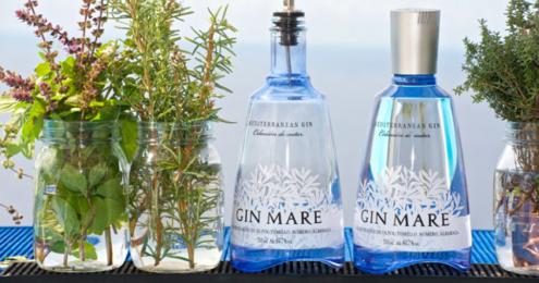 Gin Mare Flaschen Botanicals