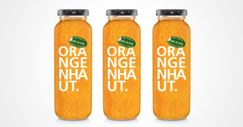 true fruits Smoothie oragen Orangenhaut