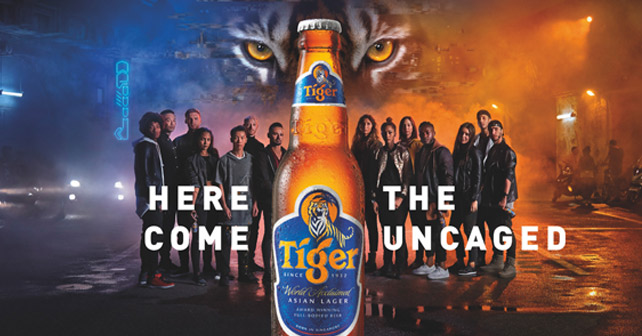 The uncaged Tiger Beer