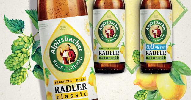 Alpirsbacher Klosterbräu Relaunch Radler