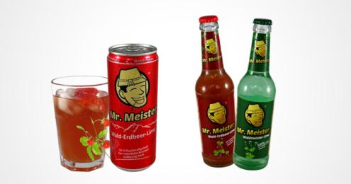 Mr. Meister Wald-Erdbeer-Limo