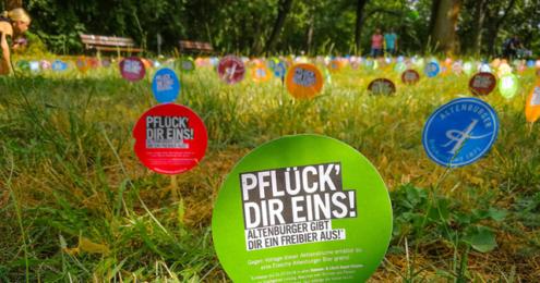 """Altenburger """"Pflück' dir ein Freibier!"""""""