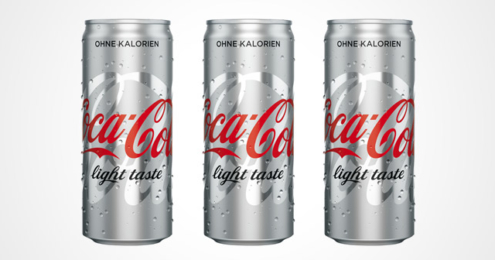 Coca-Cola light taste Full-Silver-Look