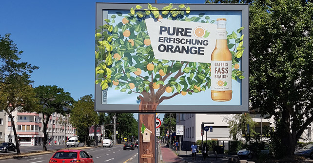 Gaffels Fassbrause Baum Werbung