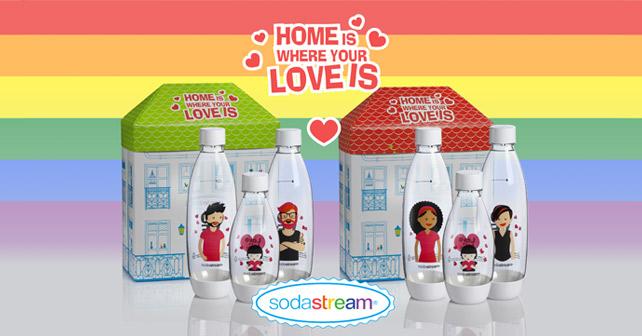 SodaStream Flaschen Love is Love!