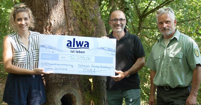 alwa spendet für die Wildkatzen