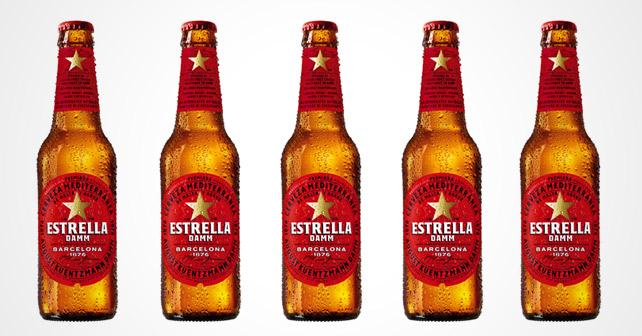 Estrella Damm Flaschen