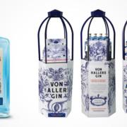 VON HALLERS GIN Flasche POS-Display