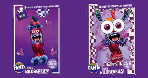 Fanta Wildberries Plakate