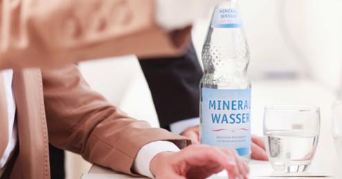 Mineralwasser Buero