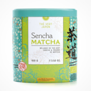 Bio Matcha Sencha Tee in farbenfroher Dose von terre d'Oc