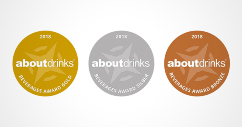 about-drinks Beverages Award 2018 Medaillen