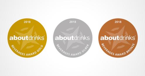 about-drinks Beverages Award 2018 Medaillen