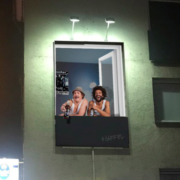 Gaffel Sonderwerbung Fenster
