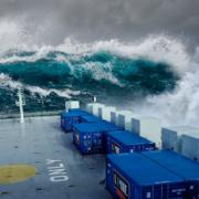 LINIE Aquavit Schiff Sturm