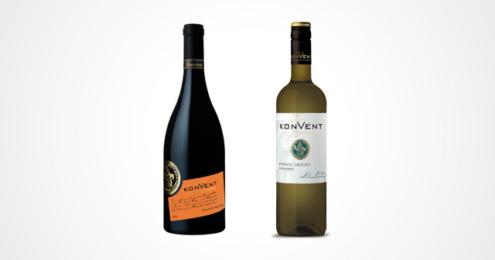 Weinflaschen Pinot Grigio und Divinus Orangenwein