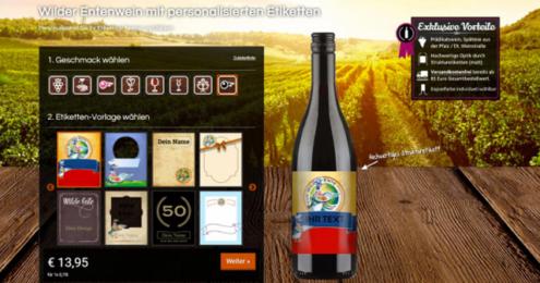 Screenshot vom Getränke Konfigurator