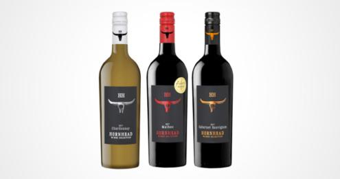 drei Flaschen Hornhead Chardonnay