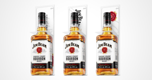Jim Beam White mit Barschild