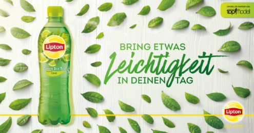 Banner Lipton Ice Tea Leichtigkeit Germany's next Topmodel