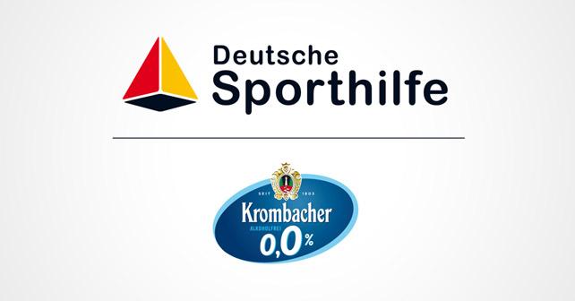 Logos Deutsche Sporthilfe und Krombacher