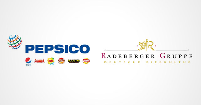 Logos von PepsiCo und der Radeberger Gruppe