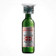 Flasche Malteserkreuz Aquavit mit Steakthermometer im On-Pack