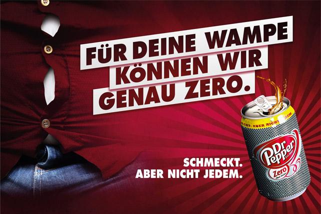 Plakat Dr Pepper Zero Wampe