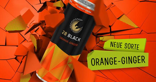 Produkt 28 BLACK Orange-Ginger Energy-Drink