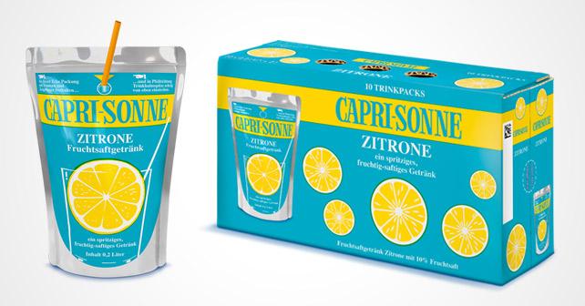 Abbildung der Retro-Edition der Capri-Sonne Zitrone