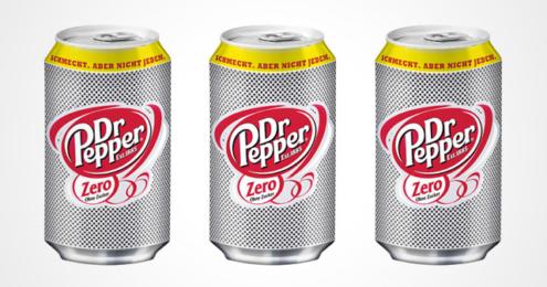 Dosen der neuen Dr Pepper Zero