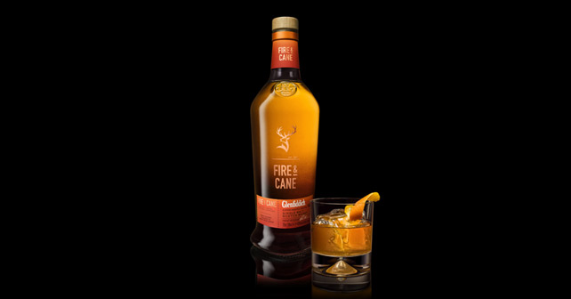 Die Flasche des Glenfiddich Fire & Cane