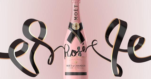 """Eine Flasche der neuen """"Rosé Treasured Ties"""" Collection von Moët & Chandon"""