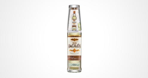 Flasche mit Designglas des RON VACILÓN 3 AÑOS