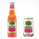 Flasche und Dose des neuen Somersby Red Rhubar