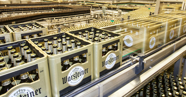 Warsteiner Bier in der Produktion