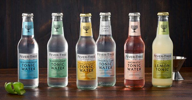 Produkte der Fever-Tree Mixer Range 2019