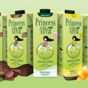 Die Produkte des Erbsendrinks PRINCESS AND THE PEA