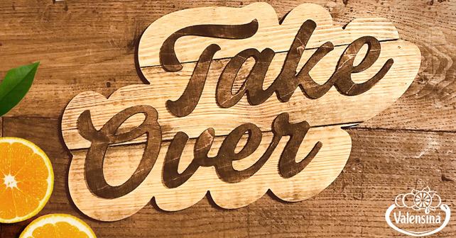 Header der Take Over-Kampagne von Valensina