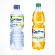 Flaschen Carolinen-BioApfelschorle und Bio-Limette